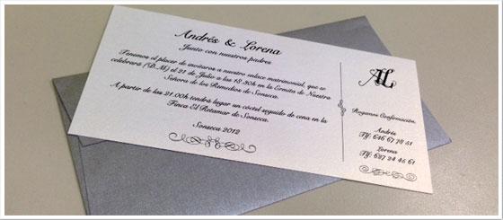 Impresión de invitaciones